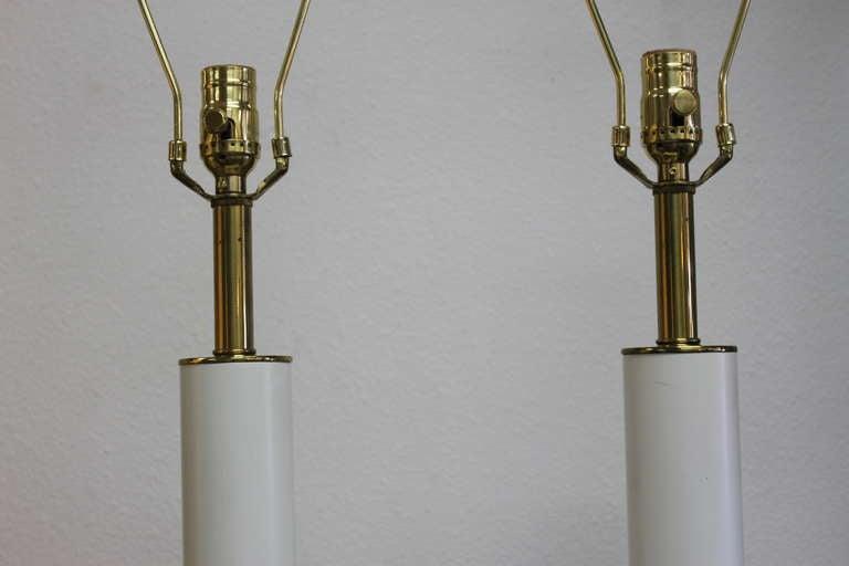 American Pair of Stiffel Lotus Leaf Lamps For Sale