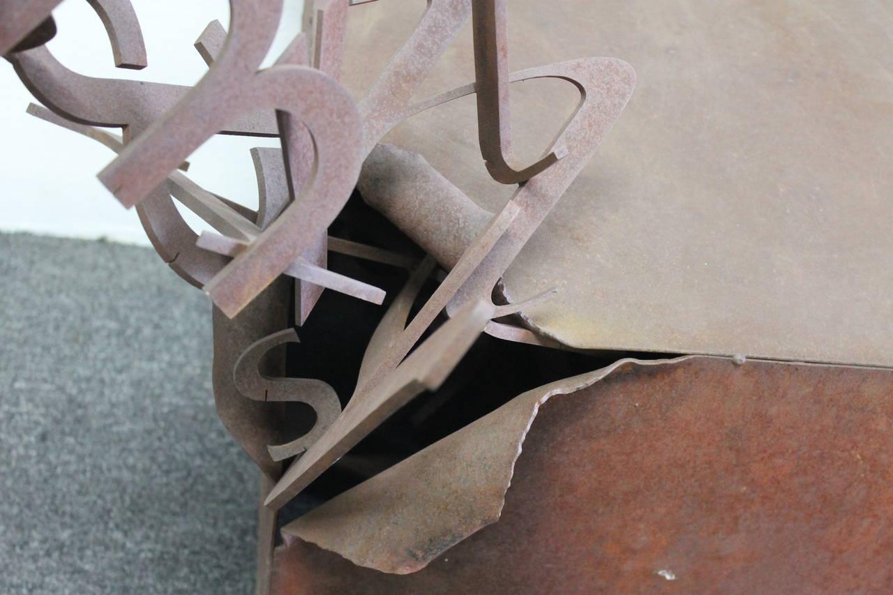 Steel letter box pedestal sculpture at 1stdibs for Furniture 5 letters