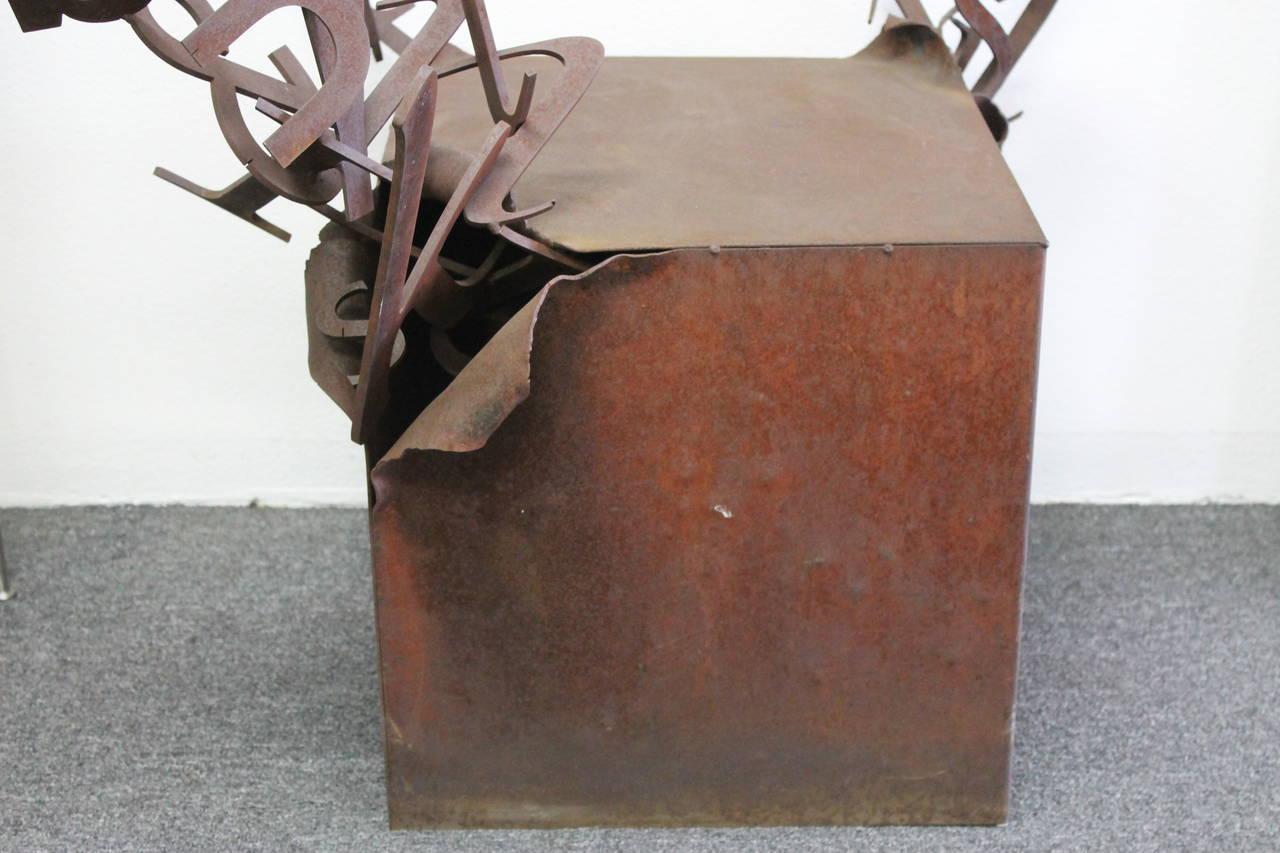 Steel letter box pedestal sculpture at 1stdibs for Furniture 6 letters