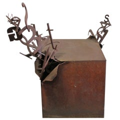Steel Letter Box Pedestal / Sculpture