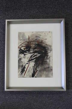 Richard Faralla Chalk Abstract Painting