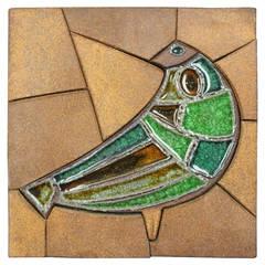 Raul Coronel Ceramic Tile Bird