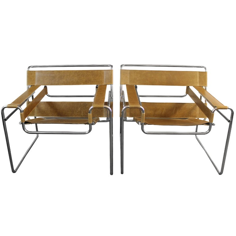 Pair Of Marcel Breuer Wassily Chairs At 1stdibs