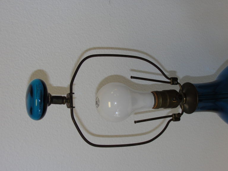 Blenko Lamp In Excellent Condition For Sale In Palm Springs, CA