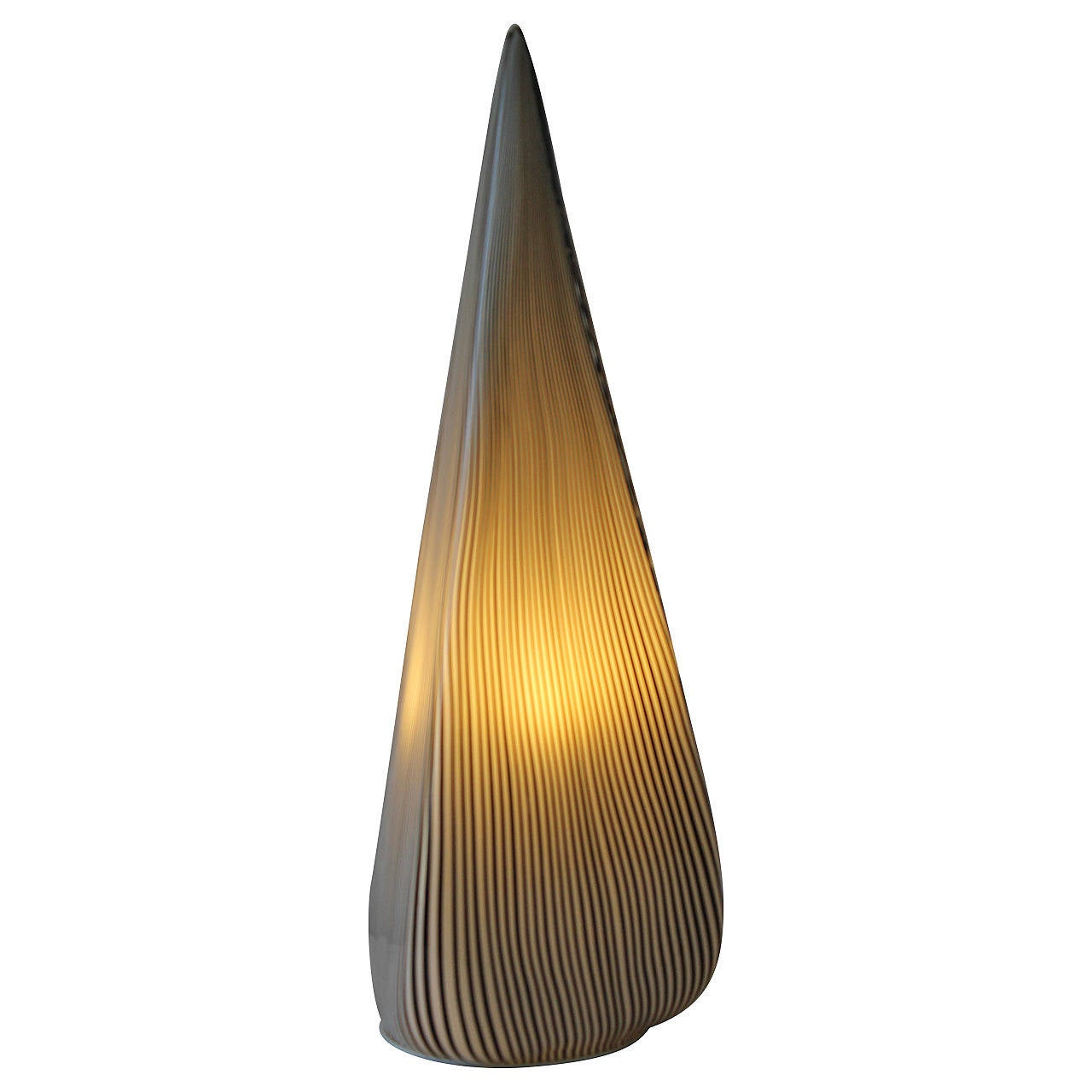 this murano black and white glass table lamp by vetri italy is no. Black Bedroom Furniture Sets. Home Design Ideas