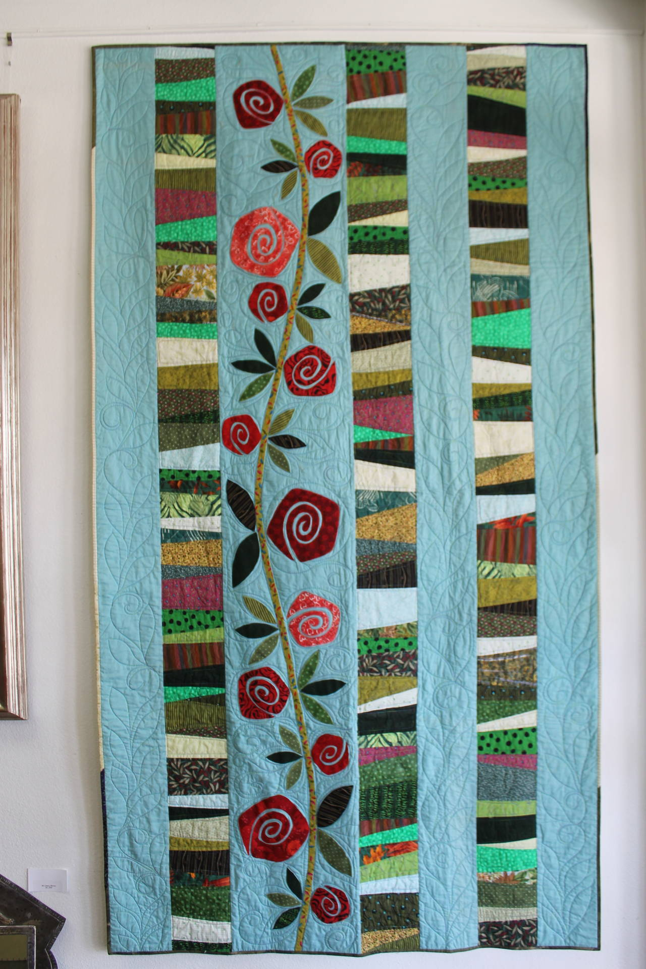Quilt Reminiscent Of Charles Rennie Mackintosh For Sale