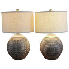 Pair of Bob Kinzie Ceramic Lamps