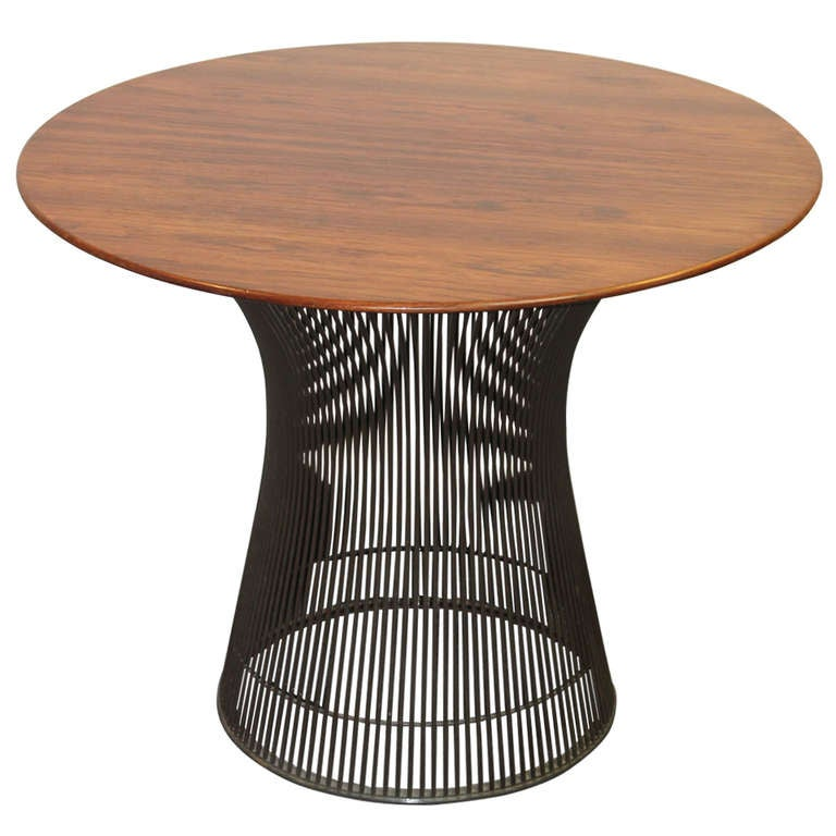 Warren platner rosewood table at 1stdibs for Table warren platner