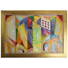 Abstract Painting, Denver Colorado Gallery Tag