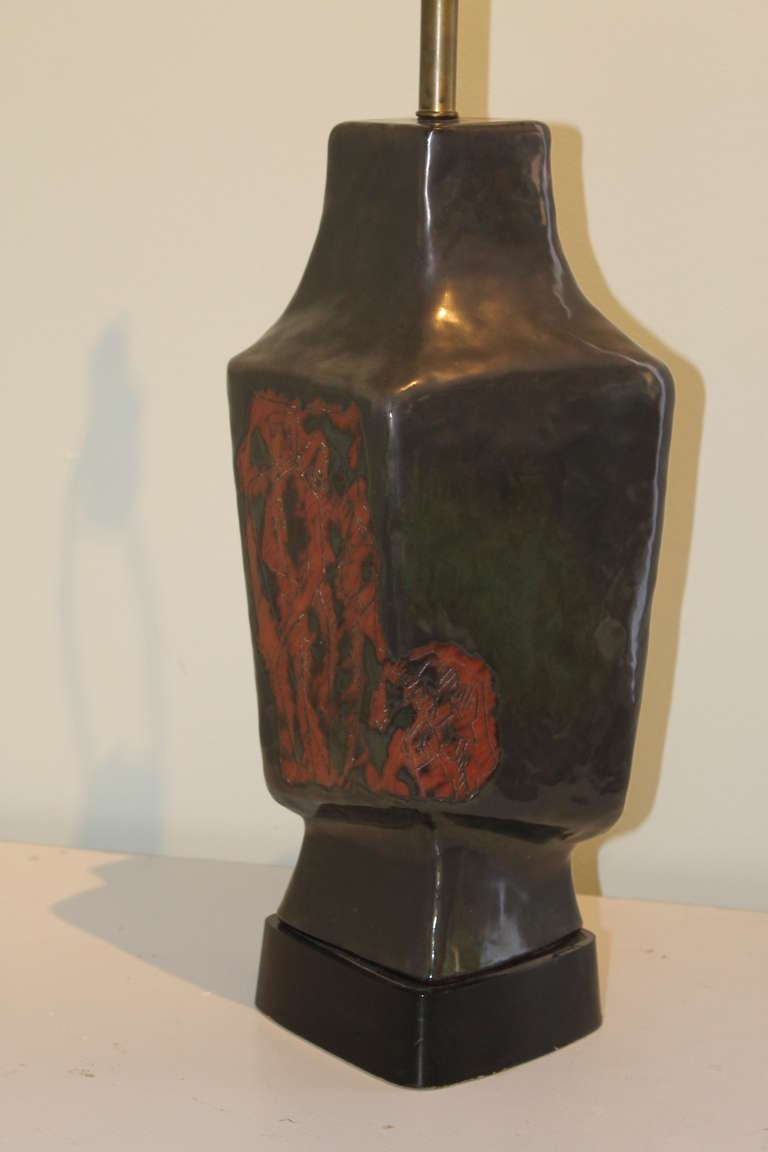 Marianna von allesch ceramic table lamp at 1stdibs for Design table lamp giffy 17 7