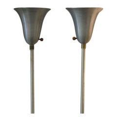 Russel Wright Spun Aluminum Torchieres