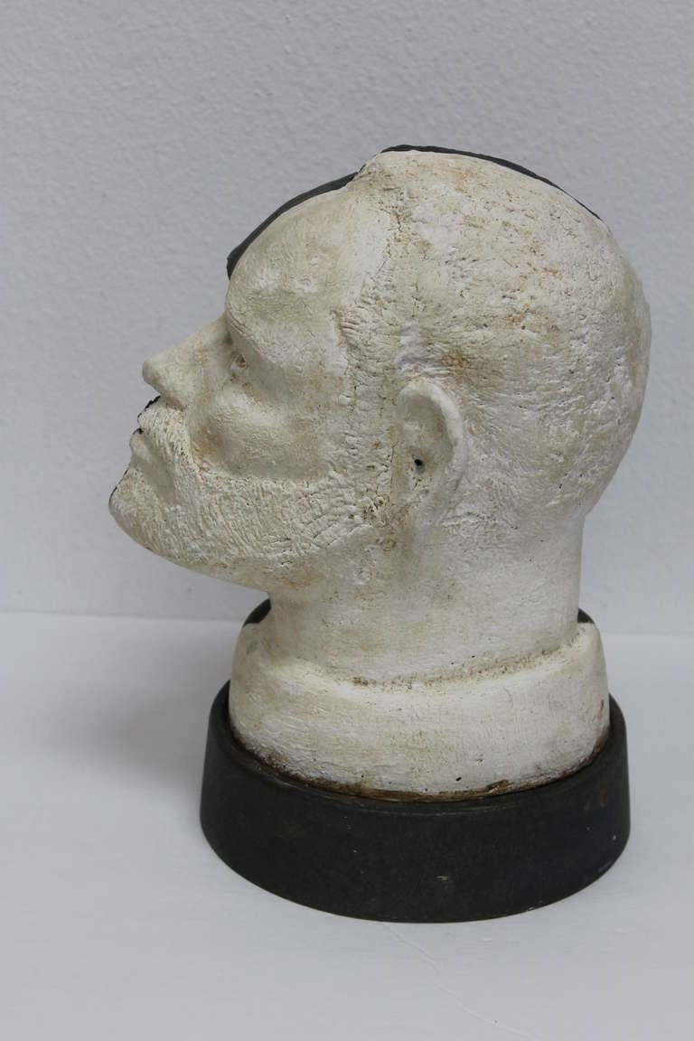 Black and White Head In Excellent Condition For Sale In Palm Springs, CA