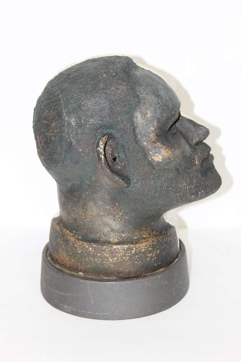 Late 20th Century Black and White Head For Sale