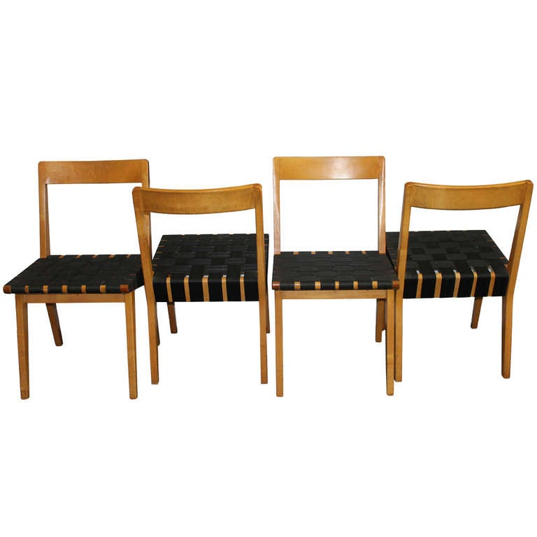 four jens risom side chairs for knoll associates at 1stdibs
