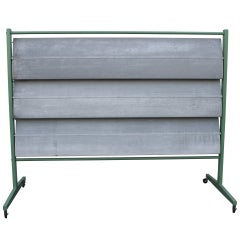 Aluminum Screen in the manner of Jean Prouve