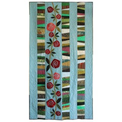 Quilt, Reminiscent of Charles Rennie Mackintosh