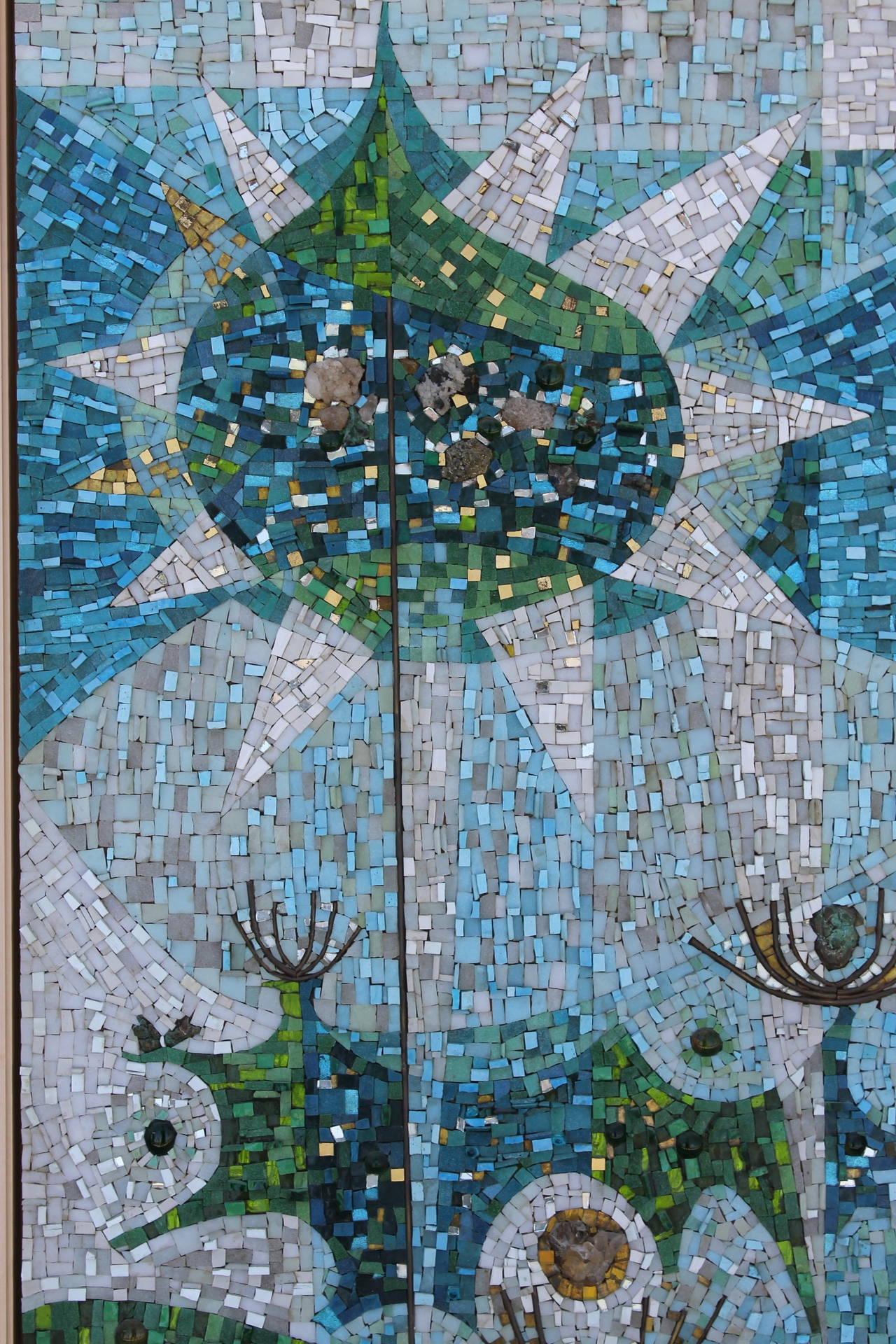 Abstract Glass Mosaic Mural Signed Dan Toledo At 1stdibs
