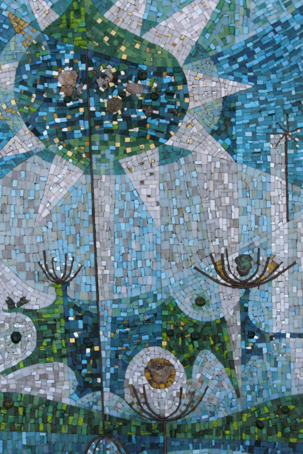 Abstract Glass Mosaic Mural Signed Dan Toledo at 1stdibs