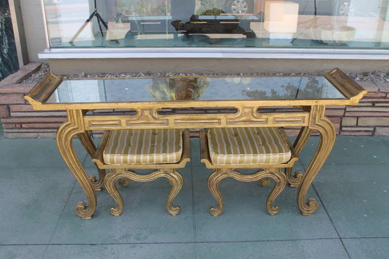 Francisco Hurtado Hollywood Regency Console Table And