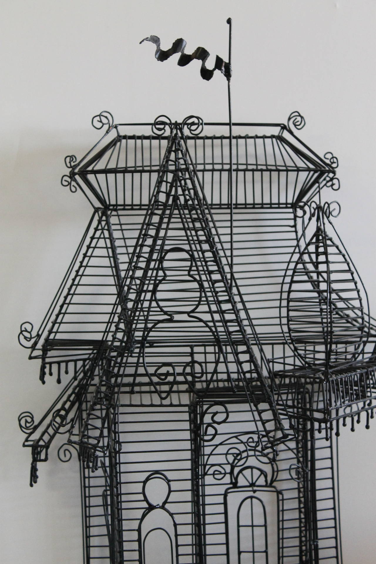 Wire Sculpture of Victorian House by Guy Pullen at 1stdibs