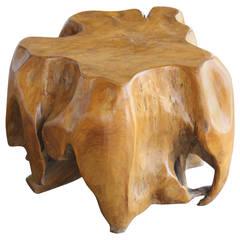 California Redwood Burl Table Ottoman