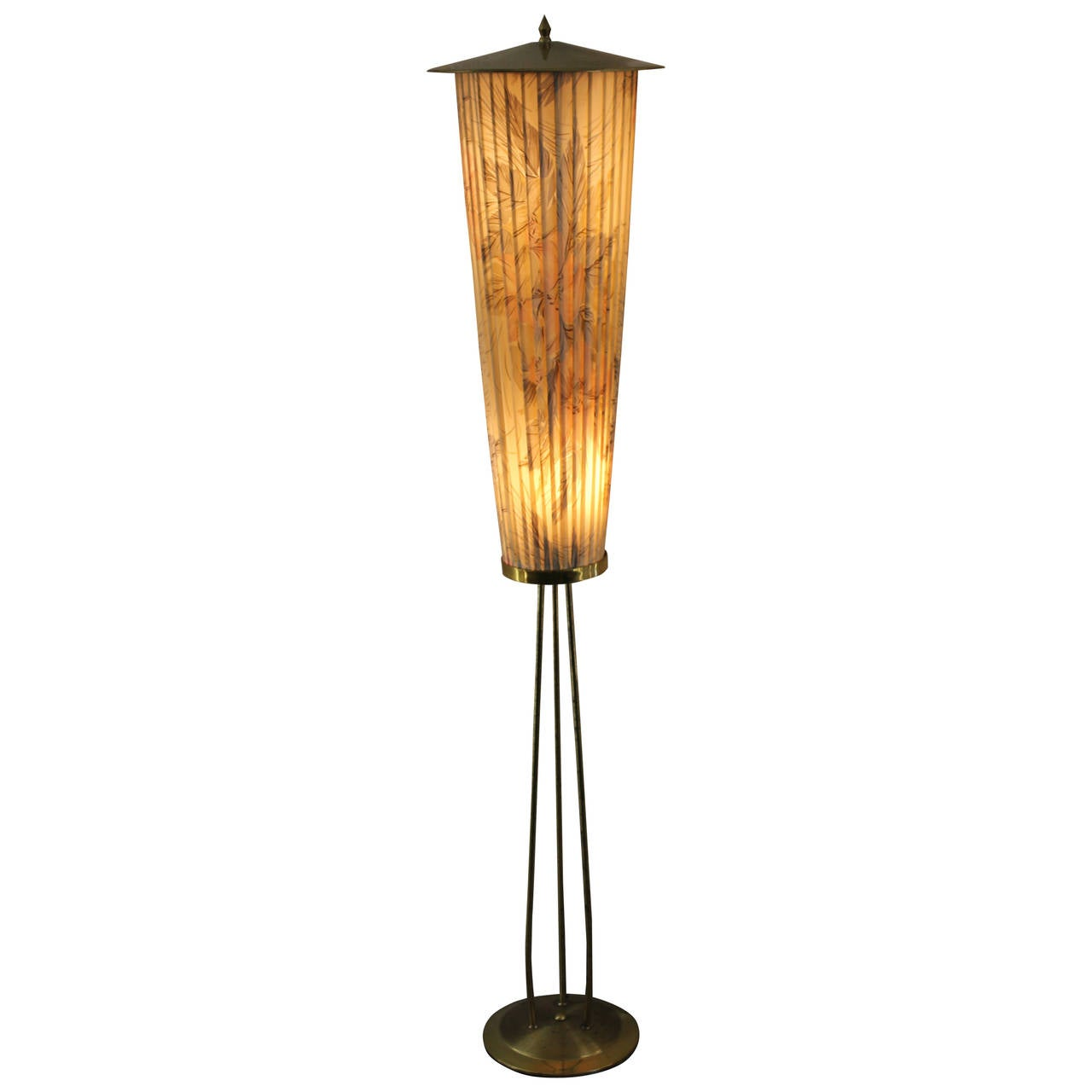 1950s french lantern style floor lamp for sale at 1stdibs for 1950 floor lamp