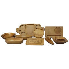 16-Piece Russel and Mary Wright Wood