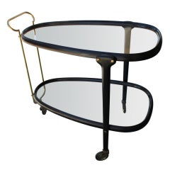 Italian Brass Bar Cart