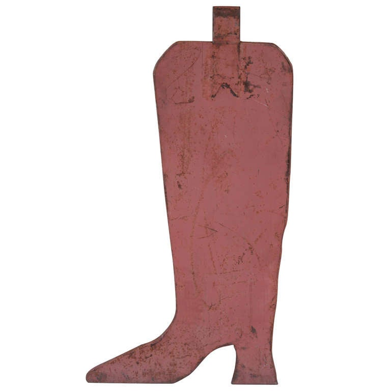 Cowboy Boot Advertising Sign