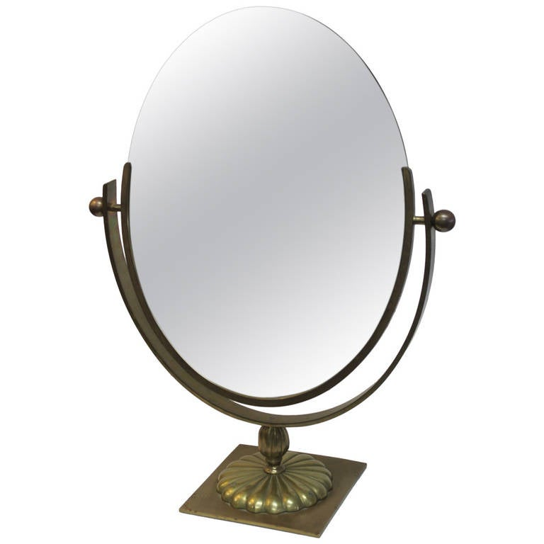 Brass Department Store Counter Mirror At 1stdibs