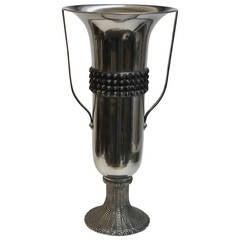 Monumental Mid Century Scandinavian Chalice Vase