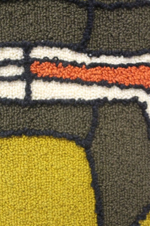 Abstract Hooked Rug For Sale At 1stdibs
