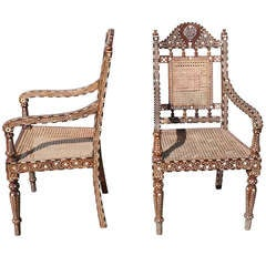 Moroccan Inlaid Chairs