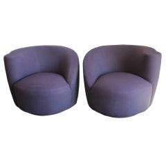 Pair of Vladimir Kagan Nautilus Chairs
