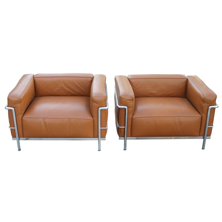 cassina lc3 le corbusier armchairs at 1stdibs. Black Bedroom Furniture Sets. Home Design Ideas