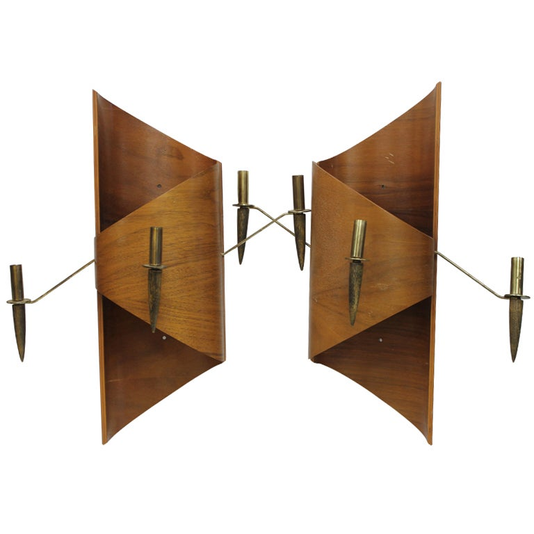 Wall Sconces Mid Century : Mid Century Wall Sconces at 1stdibs