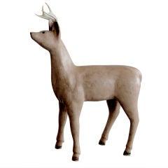 Folk Art Wooden Deer