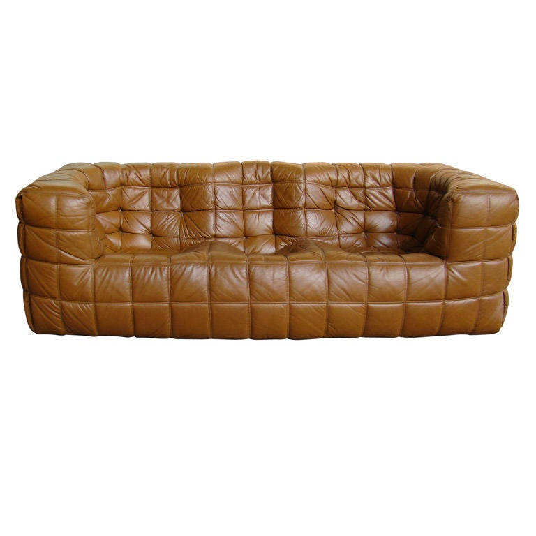 Michel ducaroy leather canape by ligne rozet at 1stdibs for Ligne roset canape