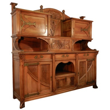 very impotant art nouveau french buffet at 1stdibs. Black Bedroom Furniture Sets. Home Design Ideas