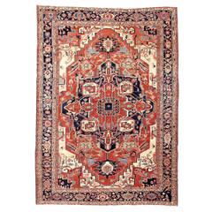 19th Century Serapi Carpet