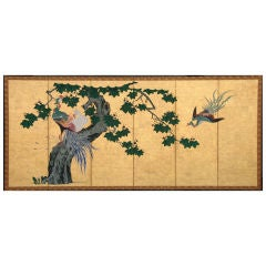 Phoenix and Paulownia Screen