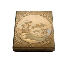 Gold-Lacquer Writing Box with Sparrows and Bamboo
