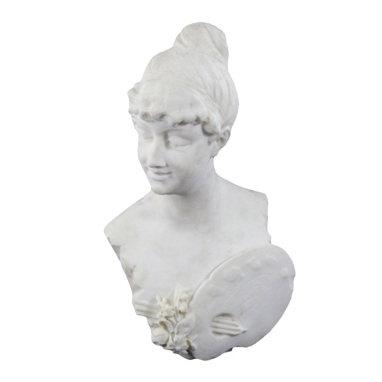 A Carved Marble Bust
