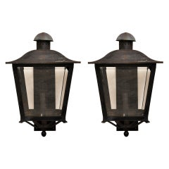 Iron and Copper Outdoor Lanterns