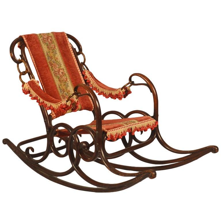 Wonderful Bentwood Rocking Chair At 1stdibs