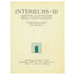 """Interieurs - III"" Book by Leon Moussinac on 20th century interior design"