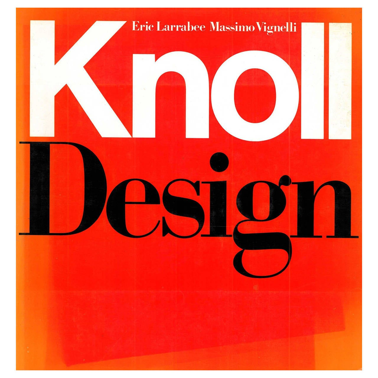 """""""Knoll Design"""" Book on famous American 20th century furniture design"""