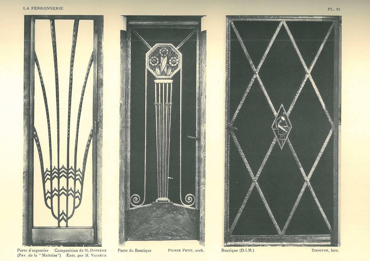 la ferronnerie exposition des arts decoratifs paris1925 book for sale at 1stdibs. Black Bedroom Furniture Sets. Home Design Ideas