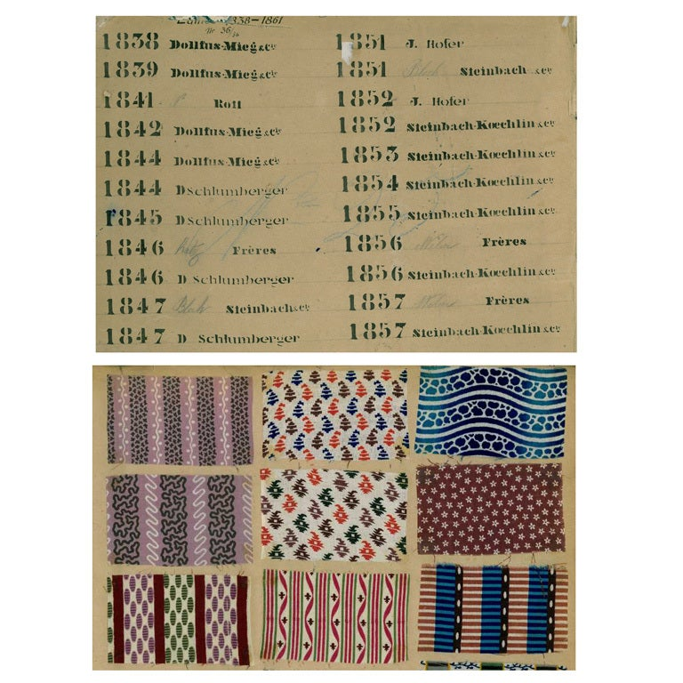 Sample Book of printed Fabrics and Textiles