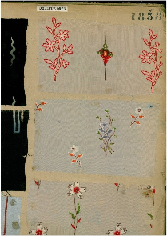 French Sample Book of printed Fabrics and Textiles
